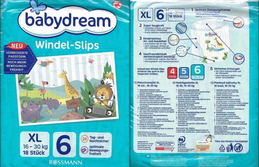 Testpackung Babydream Windel-Slips 6 XL