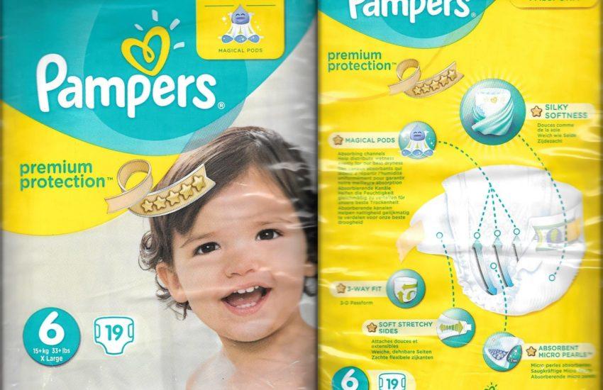 Testpackung Pampers premium protection Größe 6 X Large