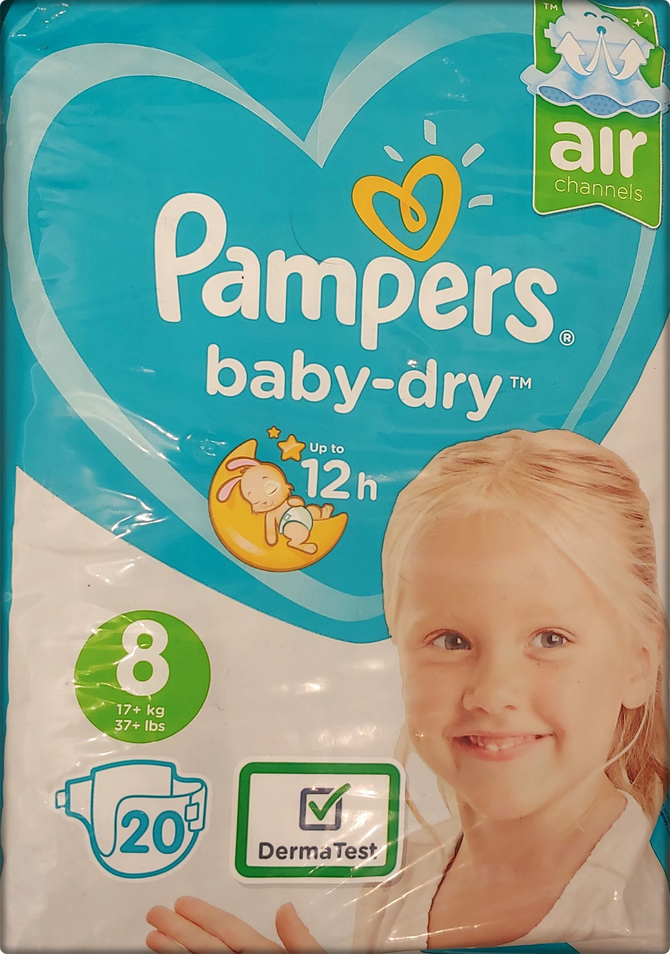 AA1 Pampers baby-dry Größe 8