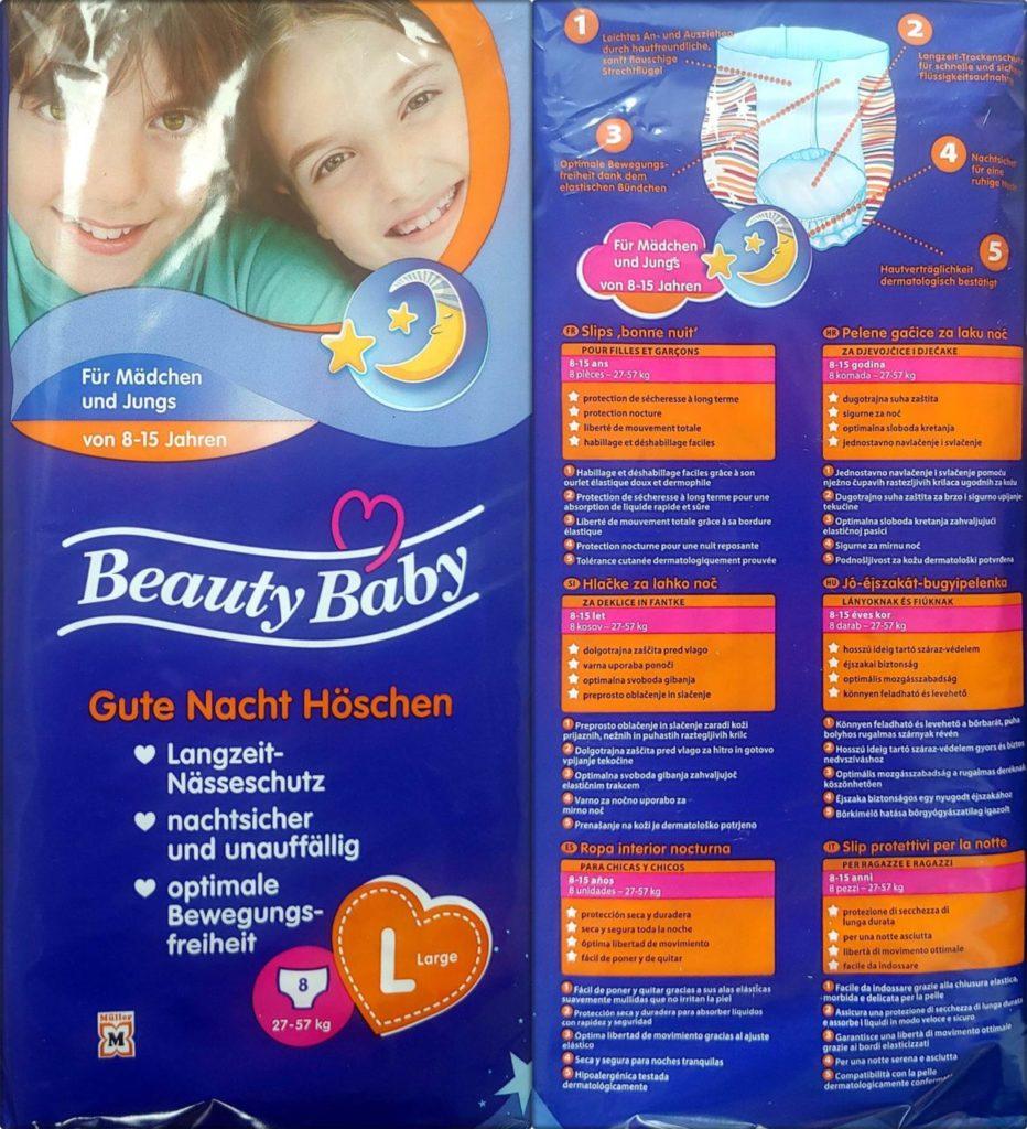 Beauty Baby Gute Nacht Höschen L 8-15 Jahre