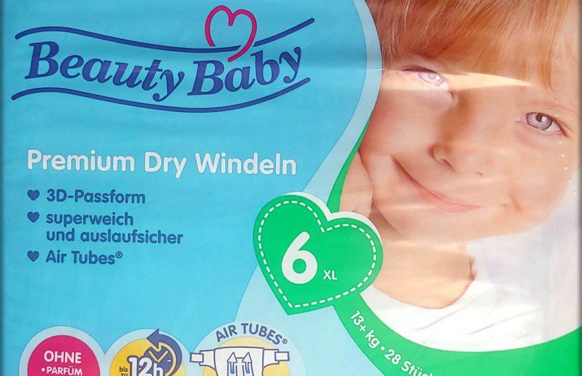 Einzelpack Beauty Baby Premium Dry Windeln Größe 6 XL Vorderseite