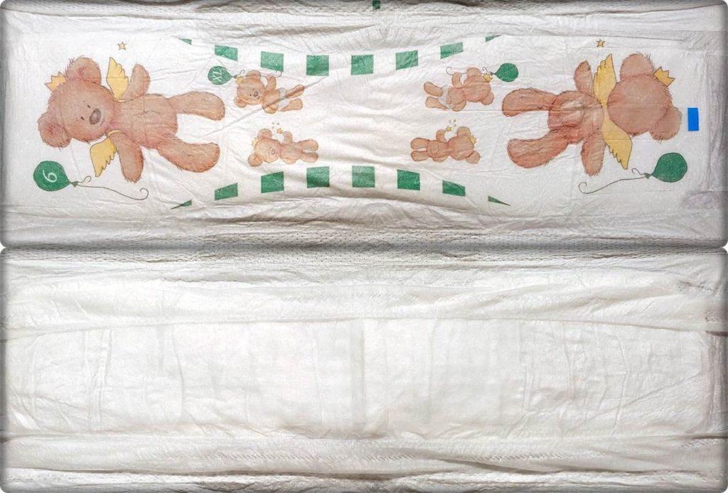 Gesamte Innen- und Außenansicht der Wunderbärchen Windelslips Größe 6 XL
