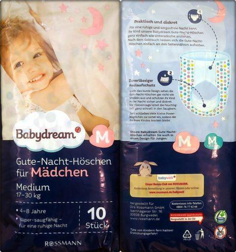 Babydream Gute-Nacht-Höschen Mädchen M 4-8 Jahre