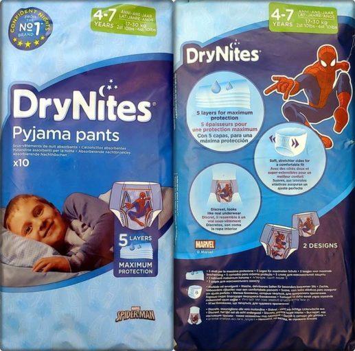 DryNites Pyjama pants für Jungen 4-7 Jahre im Test