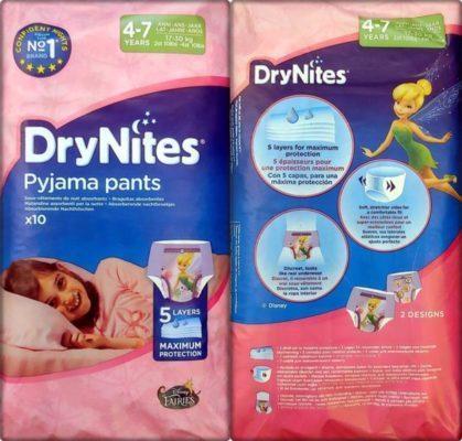 DryNites Pyjama pants für Mädchen 4-7 Jahre im Test