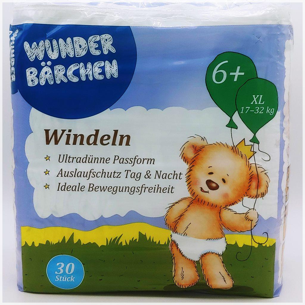 Wunderbärchen Windeln Größe 6+ XL Cover front