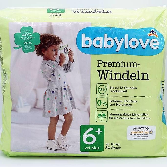Babylove Premium-Windeln Größe 6+ XXl plus Cover Front Square